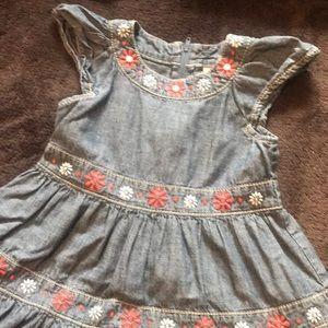 Gymboree denim embroidered dress